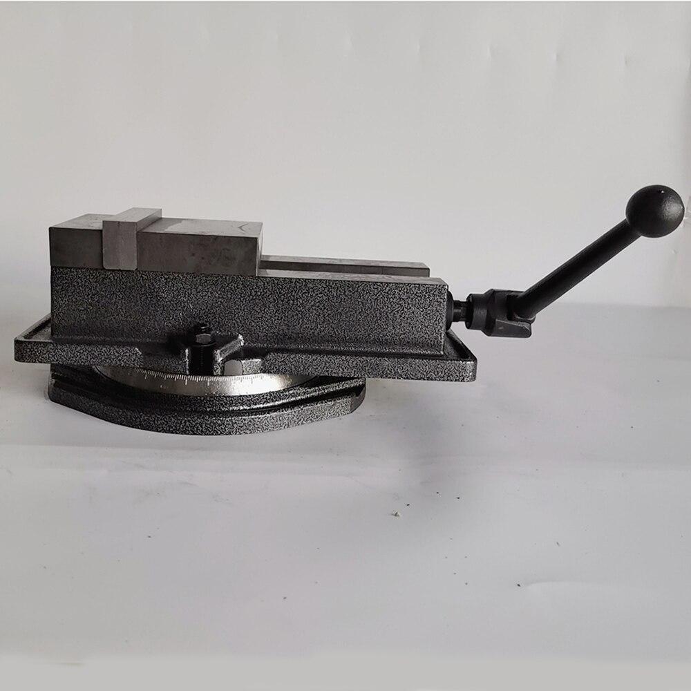 Высокоточный Настольный станок тиски фрезерные тиски QM16100 4 ''100 мм с вертлюжным основанием стол для фрезерного станка аксессуар для инструм