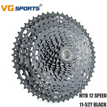 цена VG Sports 12 Speed 11-52T MTB Bike Freewheel BLACK Sprocket Cassette Flywheel for Shimano Sram Fixie cog cdg 12 Velocidade 52T онлайн в 2017 году