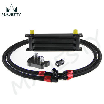 FOR BMW MINI COOPER S SUPERCHARGER R53 13 row ENGINE OIL COOLER KIT  BLACK