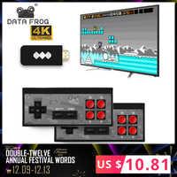 Los datos de la rana USB inalámbrico de mano consola de videojuegos TV construir en 600 clásico juego de 8 bits Mini consola de Video soporte AV/salida HDMI