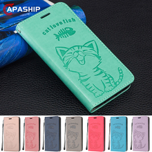 Cute Cartoon Cat Wallet Flip Case For Huawei Mate 20 P20 P30 Pro Honor 9 10 lite