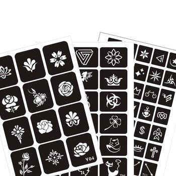 100pcs Airbrush Temporary Tattoo Drawing Sticker Template, Painting  Spray Gun Flash Template Ink