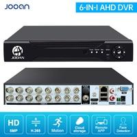 JOOAN 8CH/16CH CCTV Recorder Für CVBS AHD Analog Kamera 5MP IP Kamera Unterstützung Smart AI Bewegungserkennung & gesicht Erkennung