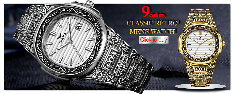 men watch Brand ONOLA Luxury fashion unique sport 2020 new leather quartz watch men relogio masculino