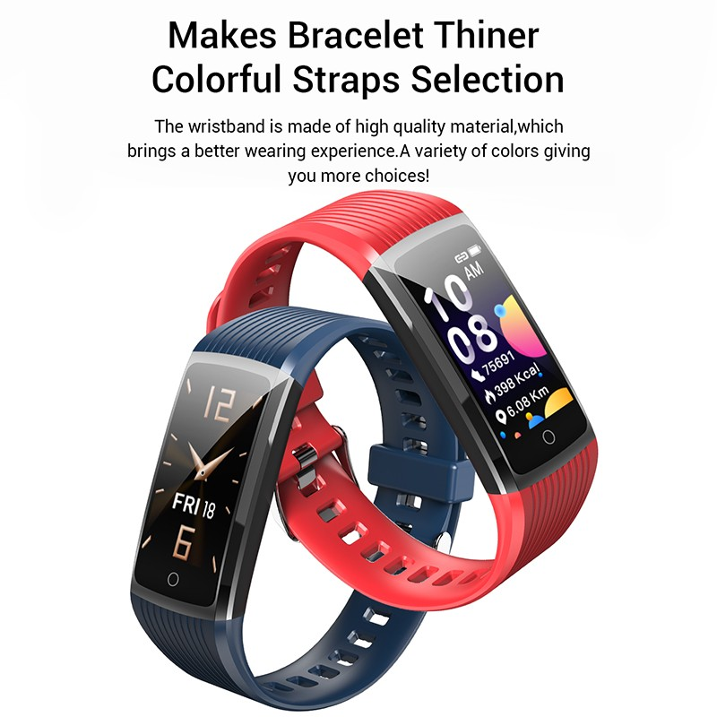H5f663dc23571474d9c7b88c1fc21eb4bJ R12 Smart Band Bracelet Fitness Bracelet with Pressure Measurement Health Wristband Pedometer Heart Rate Monitor Cardio Bracelet