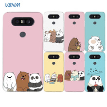 Cartoon We Bare Bears Panda Cute Fashion Soft Silicon Case For LG G7 G6 G5 G4 V40 V30 V20 V10 Q7 Q8 Q6 K8 K10 2018 2017 Cover