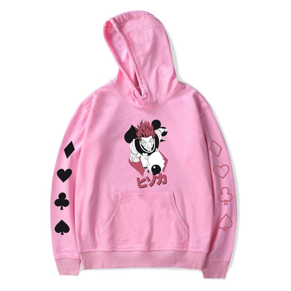 Popular Hooded hisoka Hoodies Men Women Sweatshirts Harajuku Hip Hop Hoodie Autumn hisoka boys girls Casual pink pullovers