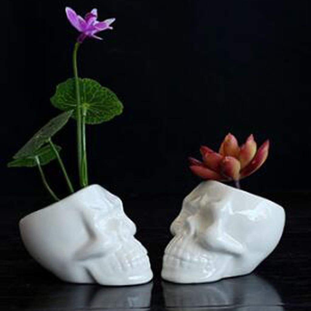 Skull Planters Skull Pot Cool Flowerpots Home Decor Pot Flower Container