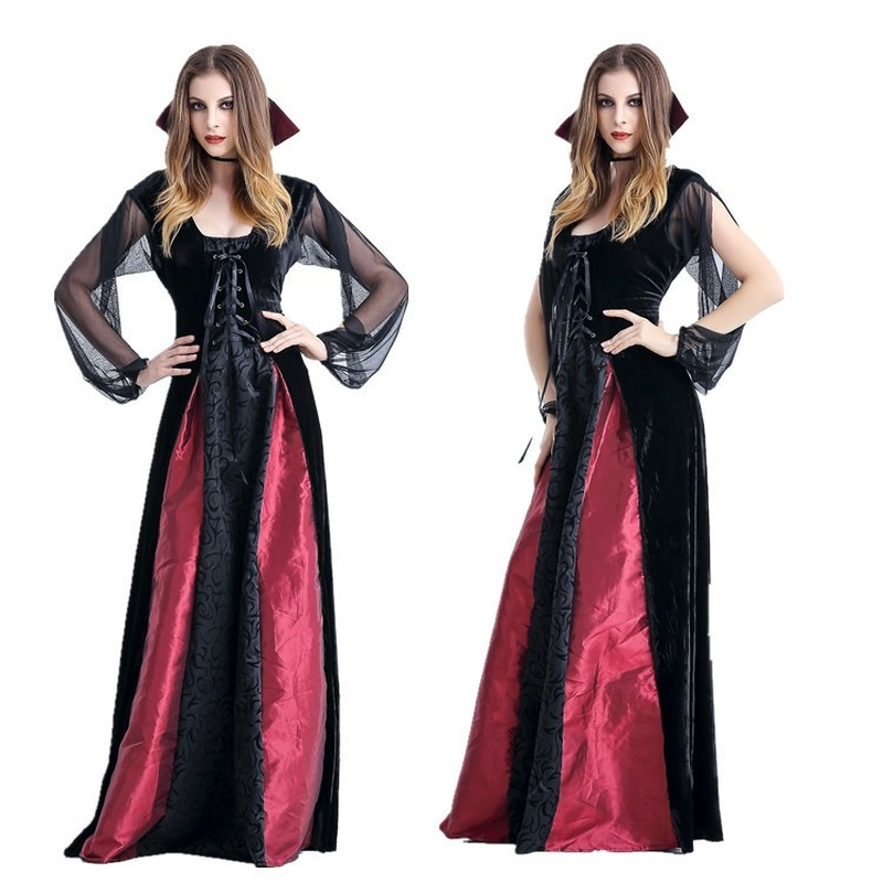 Praise Dance  Dresses For Women Halloween Vampire Count Clothing Female Emperor Banshee Spider Stage Costumes