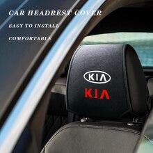 자동차 스티커 기아 Cerato Sportage R K2 K3 K5 RIO 3 4 Sorento 자동차 액세서리 스타일링을위한 슈퍼 부드러운 목화 머리 받침 커버