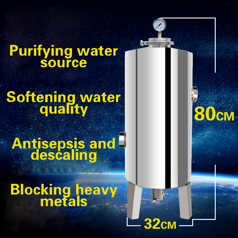 304 Stainless Steel Silicon Phosphorus Crystal Tank Scale Remover Prefilter Boiler Scale Inhibition Water Quality Tank