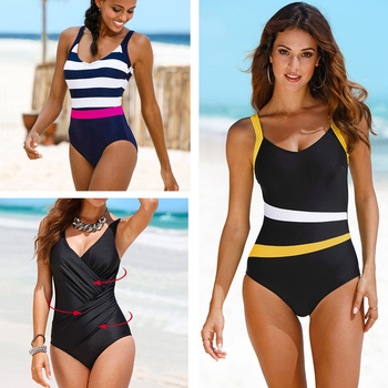 Strapped One Piece Swim Suit
