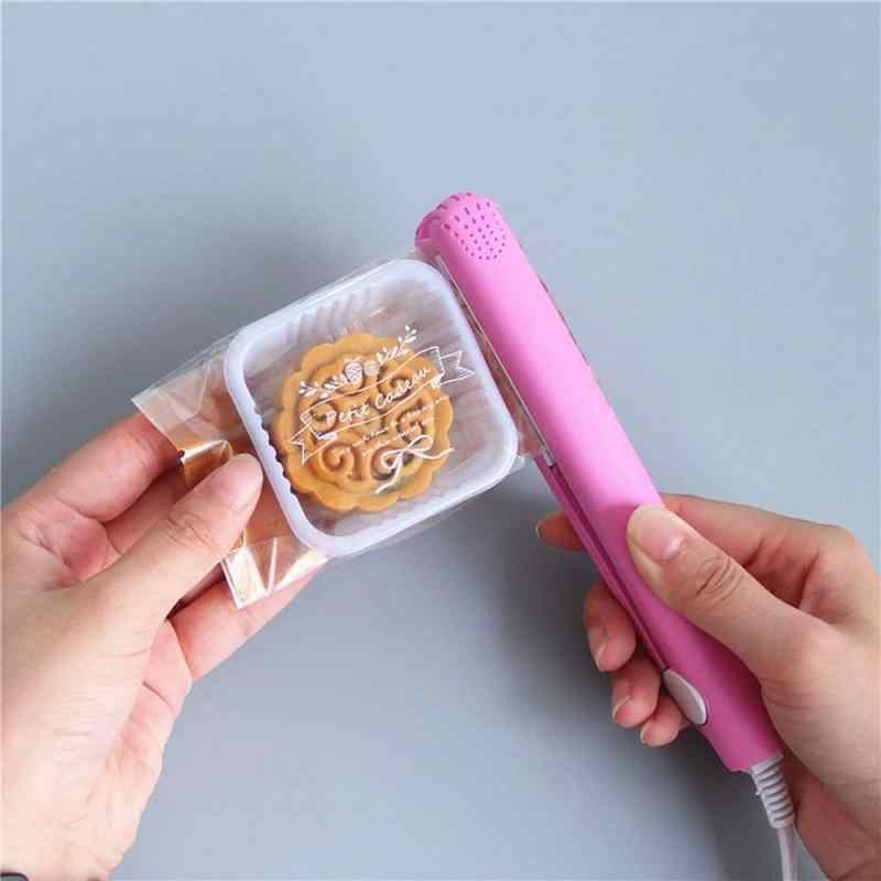 מטבח מזון אוטם ואקום נייד תיק קליפ כף יד חשמלי חום איטום מכונה חותם אריזה פלסטיק אחסון תיק אוטם כלי