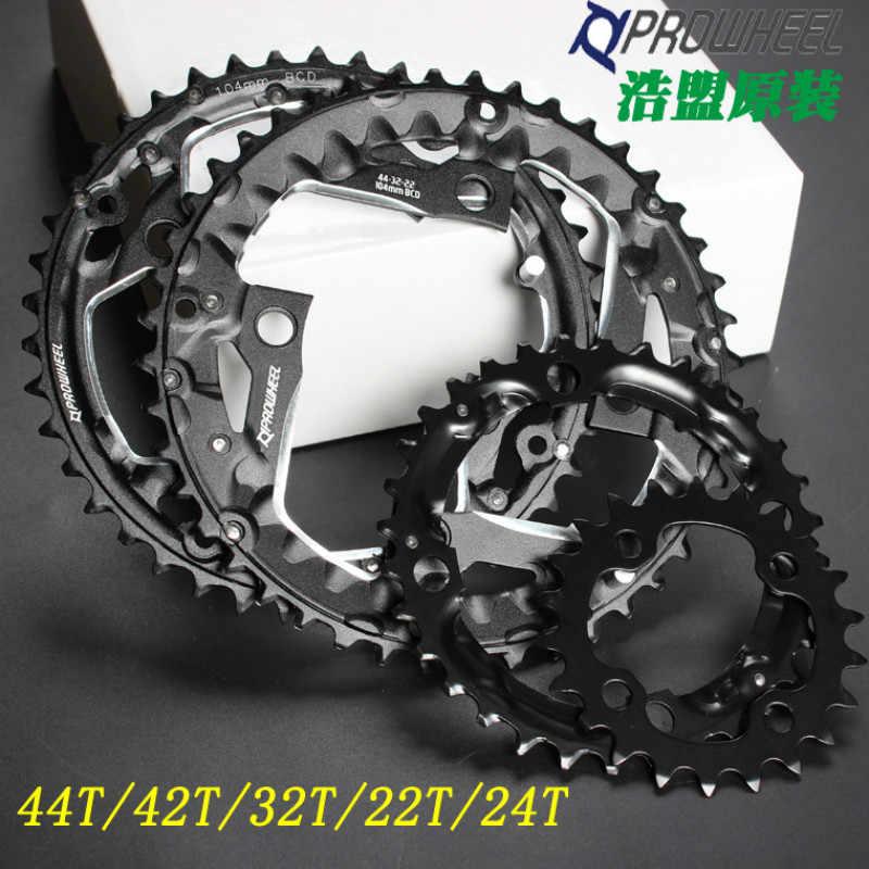 32T 42T 44T MTB Sepeda Sepeda 3 Gigi Cakram Chainwheel Sepeda Crankset Sepeda Perbaikan Bagian 9/10 Kecepatan