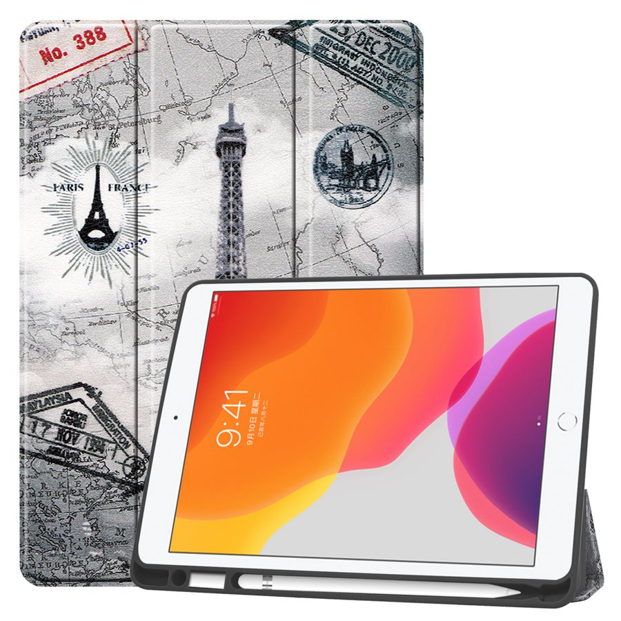 FGTT Blue Slim Smart PU Leather Case For Apple iPad 10 2 2019 with Pencil Holder Cover For