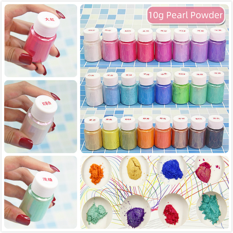 10g DIY Kit Glitter Charms Slime Pearl Powder Filler Fluffy Supplies Nail Art Mobile Beauty Accessory Slime Decoration Toys