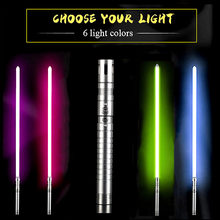 Sabre of light jedi sith luke light sabre force cosplay light toy creative free air wars steel rod toys handle sword(China)