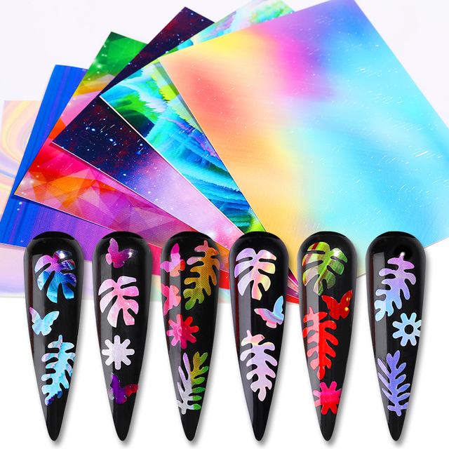 1 Sheet 3D Nail Stickers