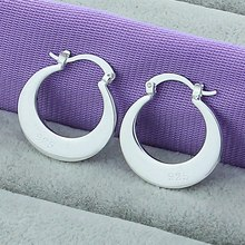 Hot Sale High Quality 925 Silver Color Earrings Wholesale Fashion Jewelry Round Hoop