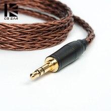 KBEAR 8 Core Sauerstoff-Freies Ausgeglichen Kabel 2.5/3.5/4,4 MM mit MMCX/2PIN/QDC/TFZ für BLON BL-05 BL05 ZSX ZS10PRO ZSNPRO BA5 V90