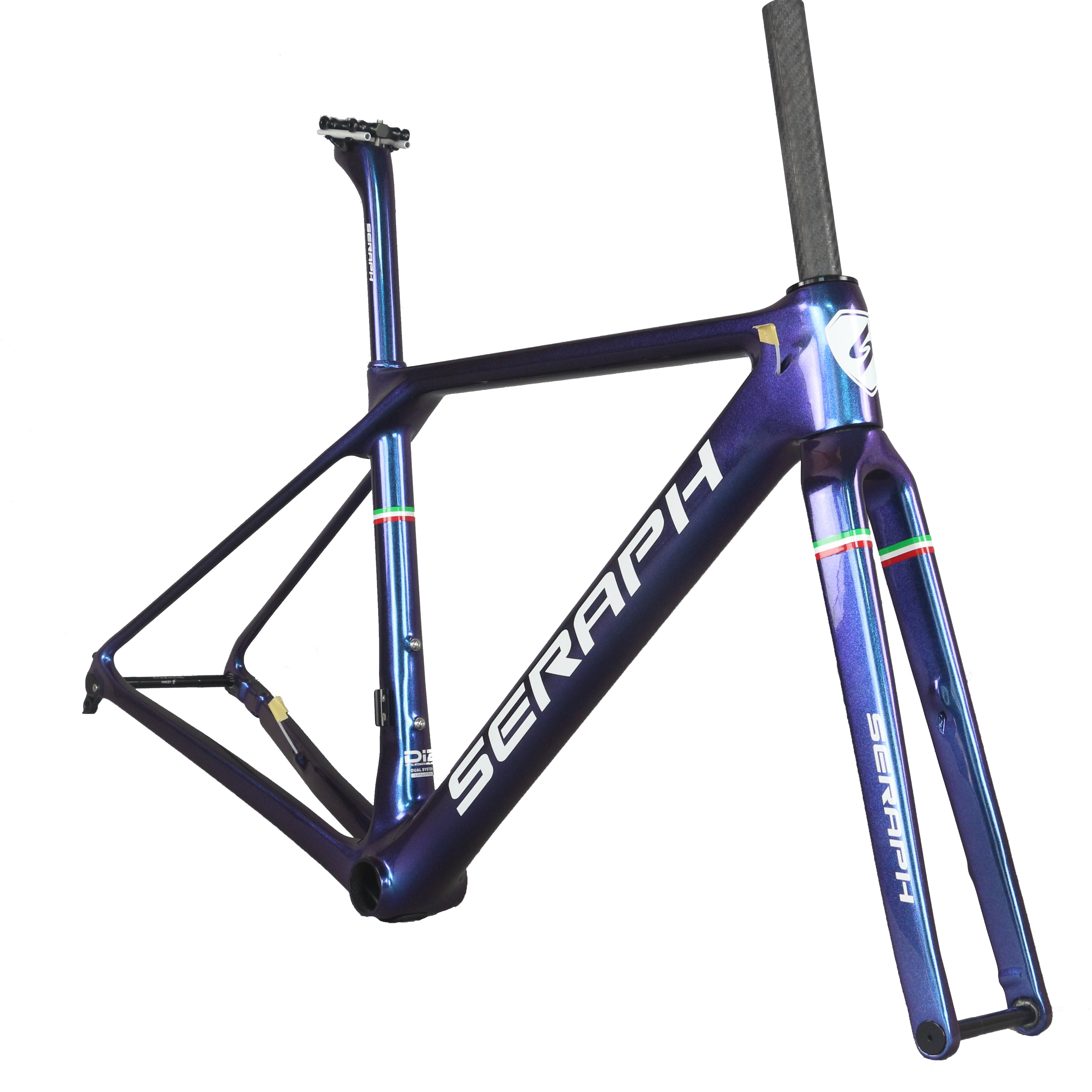 2019 SERAPH Chameleon Spray-painted Seat Tube 27.22mm Seat Post Road Bike Frame FM009 Toray Carbon Fiber T1000 Can Be Customized