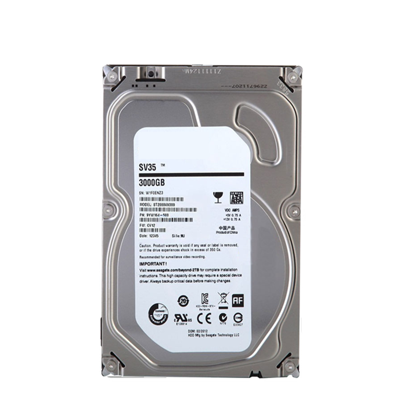 """New HDD For Seagate Brand SV35 3TB 3.5"""" SATA 6 Gb/s 64MB 7200RPM For Internal HDD For Surveillance  HDD For ST3000VX000 3"""