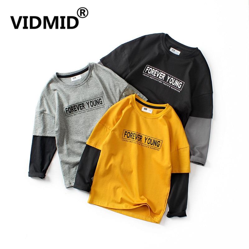 VIDMID Kids Tops T-Shirts Long-Sleeve Baby-Boys Cotton Cartoon Children's New 4102 28