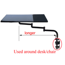 OK110 Keyboard Tray Holder Table Side Laptop Desk Notebook Stand Multifunctoinal Office Desk EdgeChair Leg Arm Clamping XL Mouse