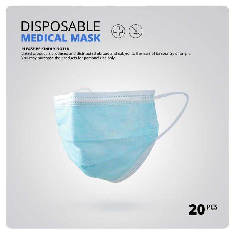 N95 3 Laye Surgical Mask Dust Protection Medical Masks Disposable Face Masks Elastic Ear Loop Disposable Dust Filter Safety Mask