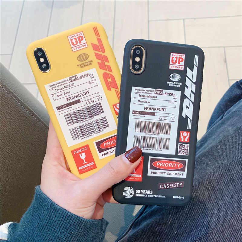 Komik DHL barkod telefon kılıfı için Huawei P30 Pro P20 Lite Mate 30 20 P akıllı y9 7a onur 20 10 V20 8X Nova 3 4 5 yumuşak kapak