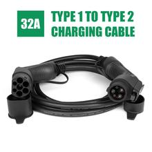 Electric Vehicle Car Charging Cable EV Charger type 1 to 2 Plug 32A 1 Phase EVSE Cord for ev car charger Station SAE J1772 5M
