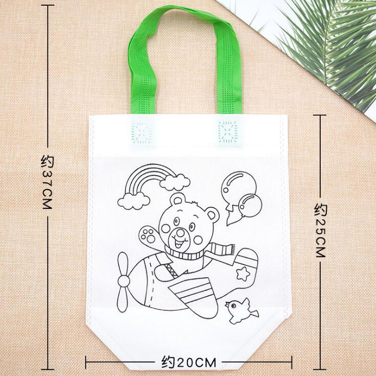 6Pcs Antistress Puzzles Educational Toy for Children DIY Eco-friendly Graffiti Bag Kindergarten Hand Painting Materials GYH 4
