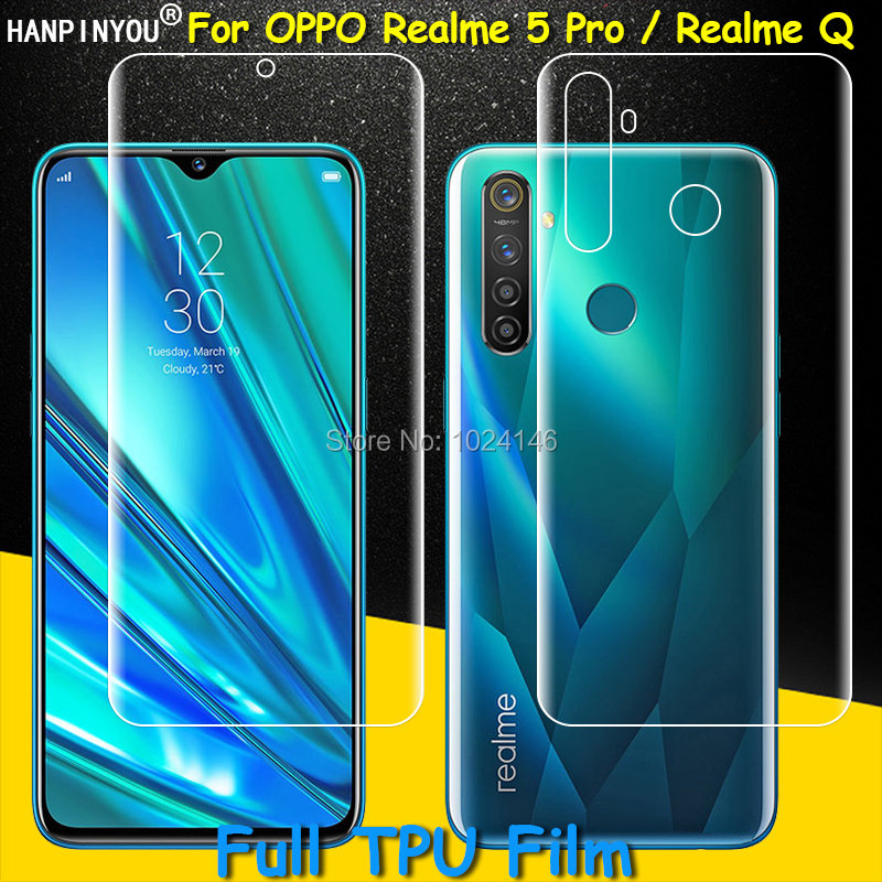 "Full Coverage Clear TPU / Matte Hydrogel Film Screen Protector For OPPO Realme 5 Pro / Realme Q 6.3"" (Not Tempered Glass)"