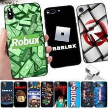 Fhnblj jogo robloxes preto caso de telefone celular para iphone 12pro max 8 7 6s plus x 5 5S se 2020 xr 11 pro xs max