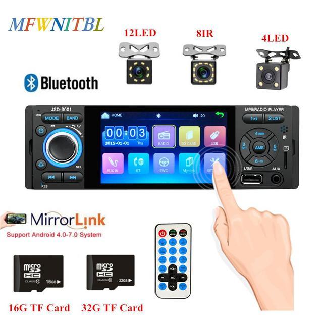 LTBFM Autoradio 1 الدين راديو السيارة JSD 3001 4.1 MP5 سيارة لاعب شاشة تعمل باللمس سيارة ستيريو بلوتوث 1Din راديو تلقائي كاميرا مرآة وصلة