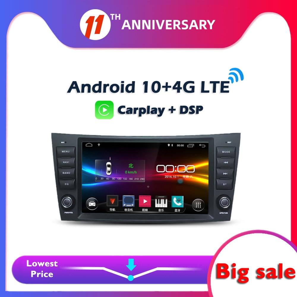 Автомобильный DVD-плеер, 6 ГБ + 128 Гб Carplay 8 дюймов IPS DSP Android 10,0 GPS WIFI Bluetooth 5,0 RDS радио для Benz W211 W463 W219 W209 2004-2011
