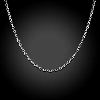 10pcs/lot Promotion! wholesale 925 sterling silver necklace, silver fine jewelry Rolo Chain 1mm Necklace 16 18 20 22 24″