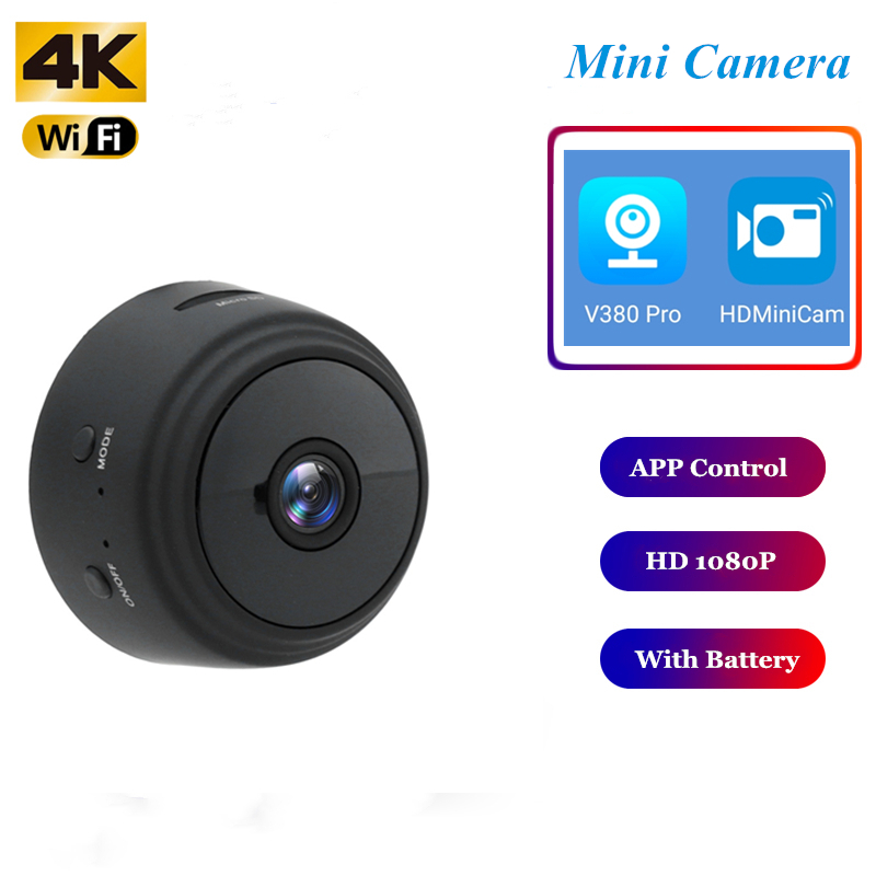 Wifi Mini Camera Surveillance-Camera Remote-Monitor Night-Vision Home-Security 4K Wireless