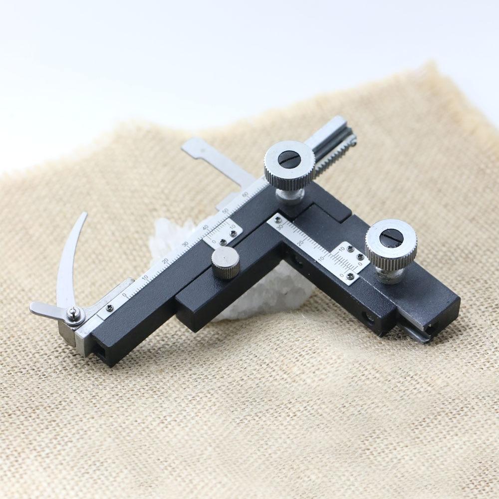 Kvaliteetne gradueeritud mikroskoobi mehaaniline staadium X-Y liikuv staadium skaalaga mehaaniliste mikroskoobiga retikleididega Tasuta saatmine