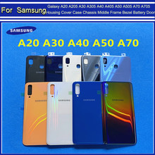 Back plastic Cover For Samsung Galaxy A20 A205 A30 A305 A40 A405 A50 A505 A70 A705 2019 Battery Door Rear panel Housing Case