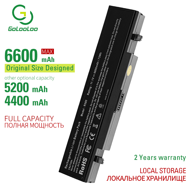 Golooloo 6 Cells Laptop Battery For Samaung R710 R718 R720 R780 RF511 RV409 RV509 SF410 SF410 AA-PB9NC5B AA-PB9NC6B AA-PB9NC6W