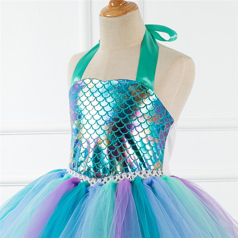 Новое поступление платье русалки для девочек юбка косплей костюм