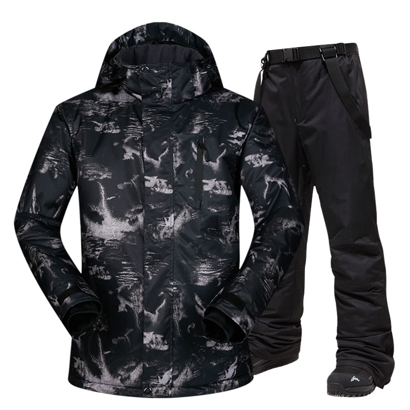 Ski Jacket Men Warm Clothing Skiing And Snowboarding Suit Jacket+Pants Male Windproof Waterproof Wear Winter Brands Men Ski Suit