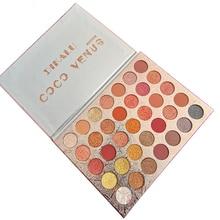 Doradosun 35 Colour Eyeshadow Water-proof Eyeglitters Beads Light Long Lasting Makeup