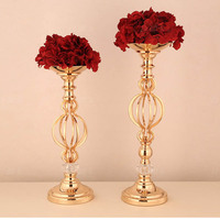 Flower Vase Candle Holder Stand Rack Wedding Road Leading Floral Iron Decorations New Wedding Props Wholesale