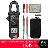 MESTEK Digital Clamp Meter Multimetro Pinza di Corrente Pinze AC/DC Tensione di Resistenza Tester di Misura Strumenti alicate amperimetro