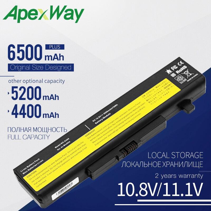 Аккумулятор Apexway для ноутбука LENOVO, 6 ячеек, для LENOVO G580, Z380, Z380AM, Y480, G480, V480, Y580, G580AM, L11S6Y01, L11L6Y01