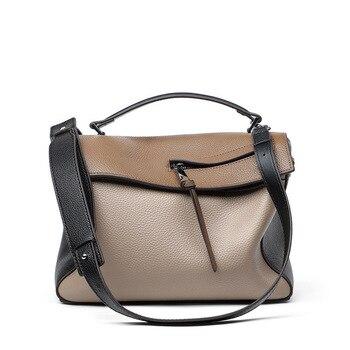 Real Natural Genuine Leather Large Capacity Satchel Luxury ladies Handbags Crossbody Bags For Women Designer Shoulder Bag Female