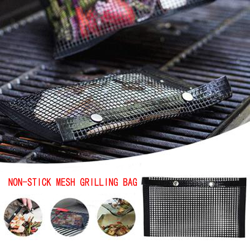 Hot sale Non-Stick BBQ Bake Bag Reusable Easy to Clean Outdoor BBQ Picnic Tool Mesh Grilling Bag Kitchen Tools kitchen stuff