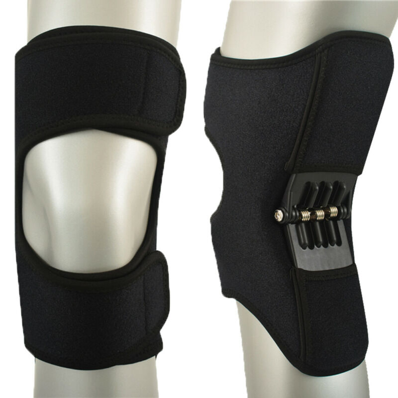 1/2 Pair Power Leg Knee Pads Power Joint Support Knee Pads Kneepad NEW -Power Joint Support Knee Pads Spring Force  Knee Sleeve